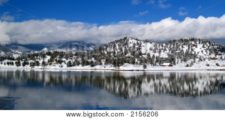 Winter Clouds At Mary'S Lake