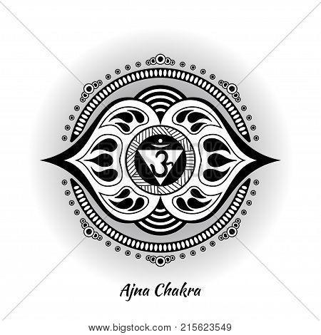 Ajna Chakra Symbol Vector Photo Free Trial Bigstock
