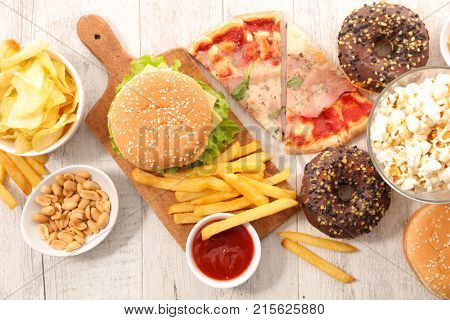 assorted fast food,junk food