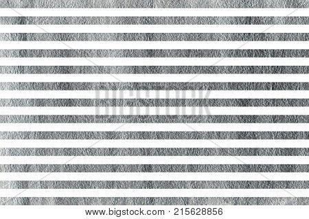 Silver Painted Striped Background.