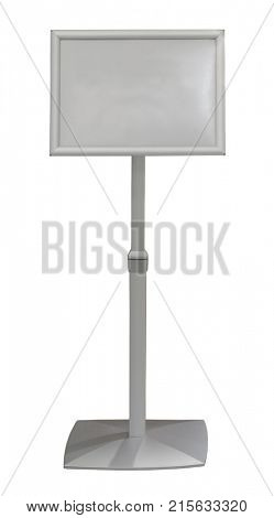 Information sign board grey blank signpost stand display