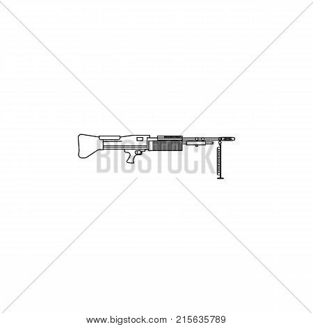automatic Machine line Gun on white background