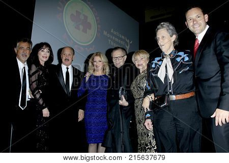 LOS ANGELES - NOV 11:  Joe Mantegna, Mary Hart, Larry King, Joanne Lara, Dr Temple Grandin at the 2017 D.R.E.A.M. Gala at the Montage Hotel on November 11, 2017 in Beverly Hills, CA