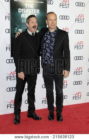 LOS ANGELES - NOV 12:  Thomas Lennon, Bob Odenkirk at the AFI FEST 2017