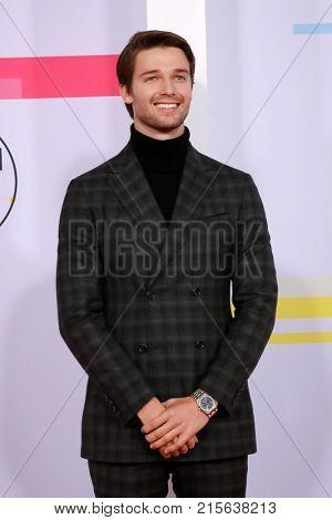 LOS ANGELES - NOV 19:  Patrick Schwarzenegger at the American Music Awards 2017 at Microsoft Theater on November 19, 2017 in Los Angeles, CA