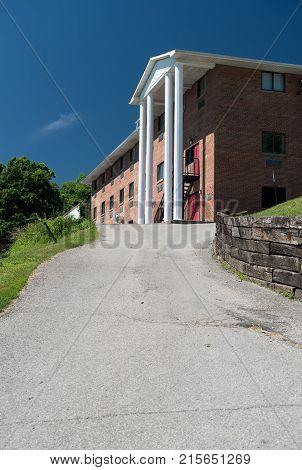 MORGANTOWN, WEST VIRGINIA - JUNE 12, 2016: Gaskins Greek Letter Organization housing at West Virginia University in Morgantown