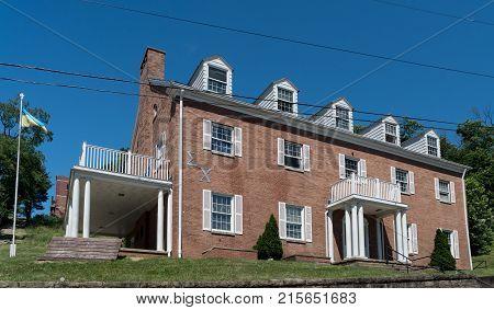 MORGANTOWN, WEST VIRGINIA - JUNE 12, 2016: Sigma Chi Greek Letter Organization housing at West Virginia University in Morgantown