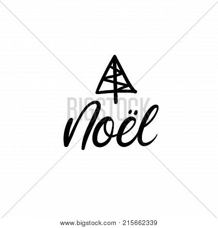 Noel christmas vector photo free trial bigstock christmas in french christmas calligraphy handwritten brush lettering for greeting card m4hsunfo