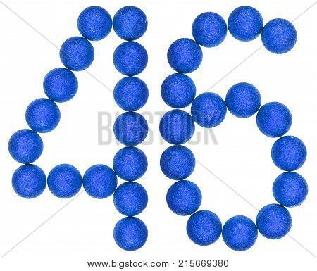 Numeral 46, Forty Six, From Decorative Balls, Isolated On White Background