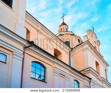 Church of Holy Spirit in the Old city of Vilnius Lithuania