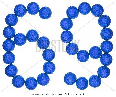 Numeral 69, Sixty Nine, From Decorative Balls, Isolated On White Background