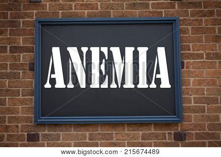 Conceptual Hand Writing Text Caption Inspiration Showing Announcement Anemia. Business Concept For M