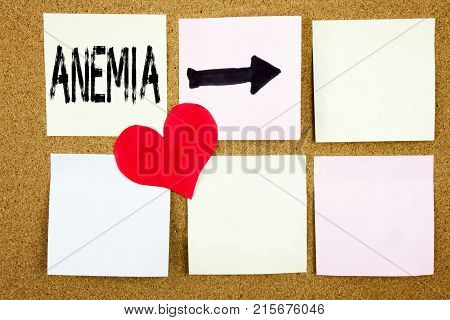 Conceptual Hand Writing Text Caption Inspiration Showing Anemia Concept For Medical Diagnosis Iron D