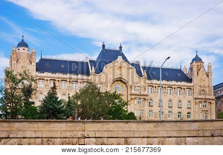 Budapest Hungary - August 31 2012: Gresham Palace Building in old city of Budapest Hungary