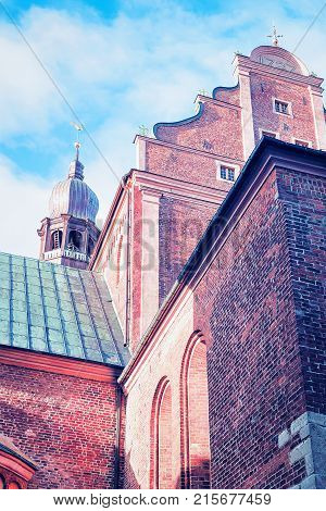 Steeple of Dome Cathedral in Riga Old Town