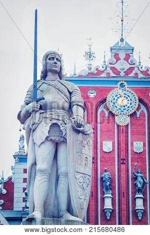 Roland Statue Riga Old Town