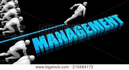 Superior Management Concept with Competitive Advantage 3D Render