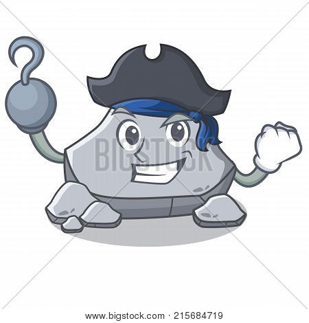 Pirate stone character cartoon style vector illustration