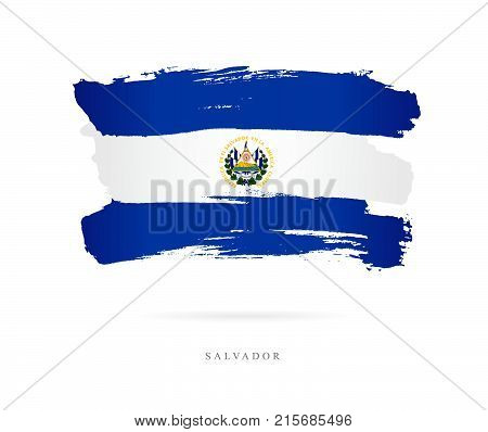 Flag El Salvador Vector Photo Free Trial Bigstock