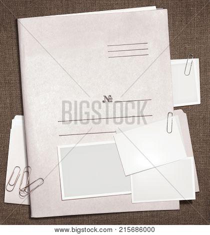 dorsal view of military top secret folder