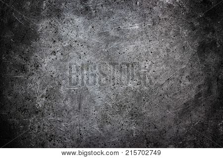 Metal Plate Silvery As A Background, Worn Aluminum Texture