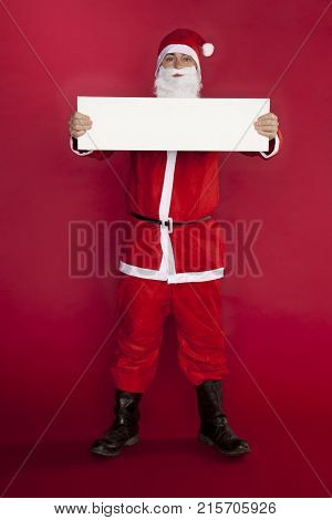 Santa Claus Holds A Place For Advertising, Indifferent Attitude