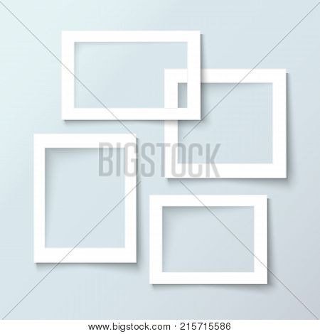 Picture frames. Photoframes mockup template for web site, advertising, banner, flyer, brochure, paper print, scrapbook and interior design