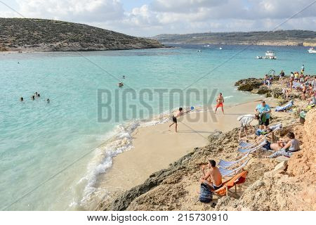 Blue Lagoon On Comino In Malta