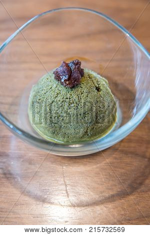 Home Made Green tea sherbet ice cream