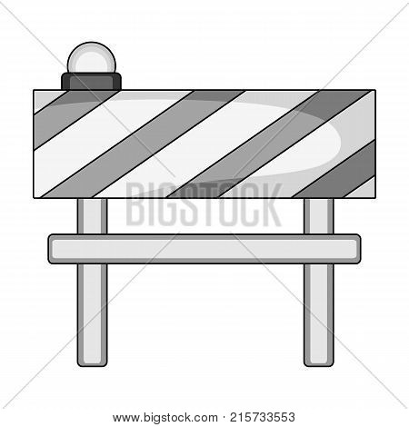 Barrier single icon in monochrome style.Barrier vector symbol stock illustration .