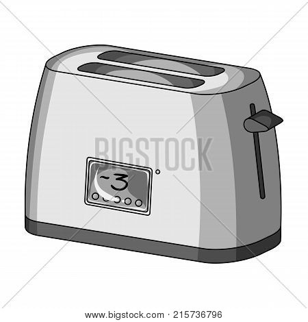 Toaster, single icon in monochrome style.Toaster, vector symbol stock illustration .