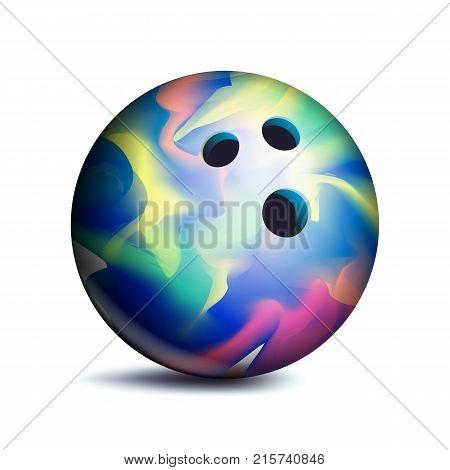 3D Bowling Ball Vector. Classic Ball. Illustration