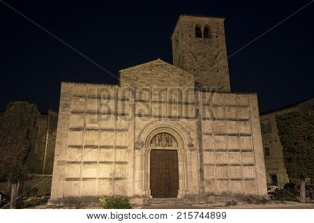 Ascoli Piceno (marches, Italy), Historic Church By Night