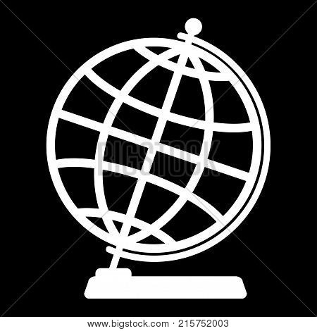 Silhouette of the globe on a dark background.