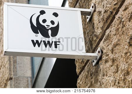 Hamburg, Germany - July 21, 2017: The World Wide Fund for Nature also called WWF is an international non-governmental organization founded in 1961 working in the field of the wilderness preservation