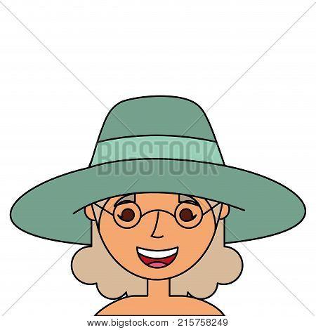 Old Woman Face Lady Grandma Cartoon