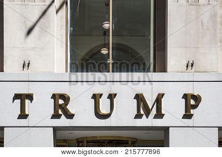 Trump Building In New York City