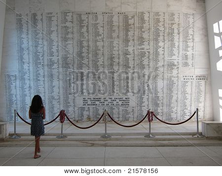 Girl and The Wall of Names