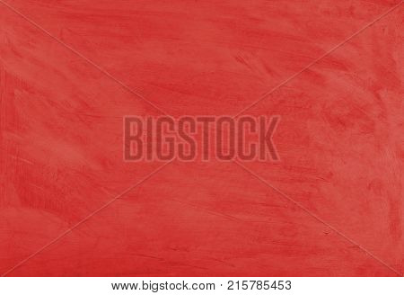 Red painted textured abstract background with brush strokes in gray and black shades