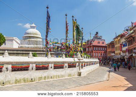 Boudanath Is The Biggest Stupa In Kathmandu, Nepal