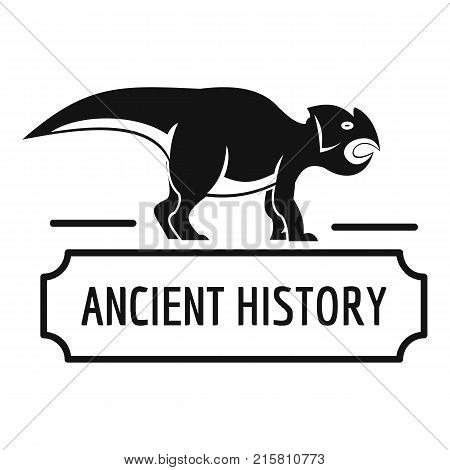 Ancient history logo. Simple illustration of ancient history vector logo for web