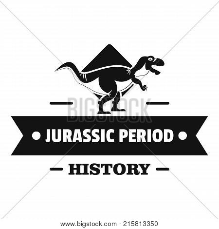 Jurassic history logo. Simple illustration of jurassic history vector logo for web