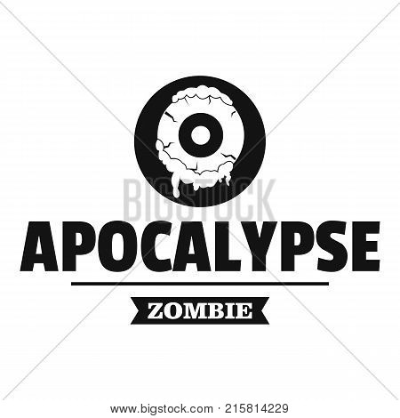 Zombie terror logo. Simple illustration of zombie terror vector logo for web