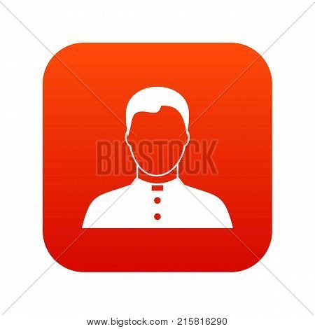 Pastor icon digital red for any design isolated on white vector illustration