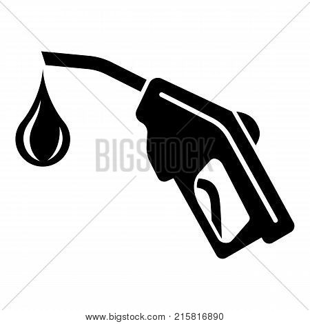 Gas pistol icon. Simple illustration of gas pistol tank vector icon for web