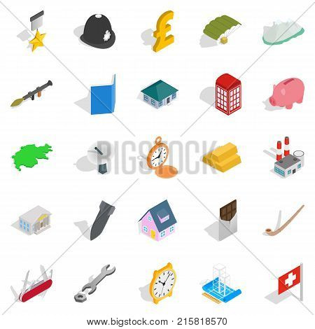Receiving money icons set. Isometric set of 25 receiving money vector icons for web isolated on white background