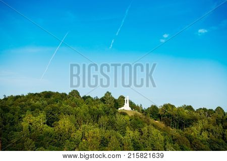 Three Crosses on the Hill of Three Crosses, originally known as the Bald Hill, Vilnius, Lithuanian