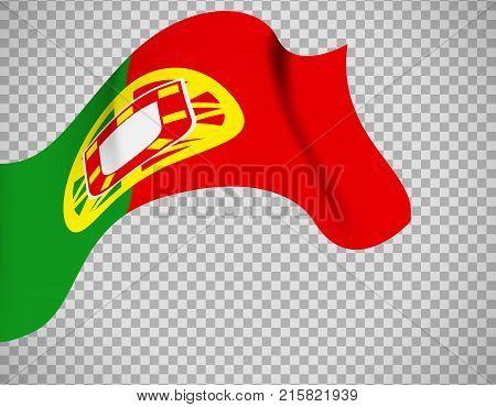 Portugal flag icon on transparent background. Vector illustration