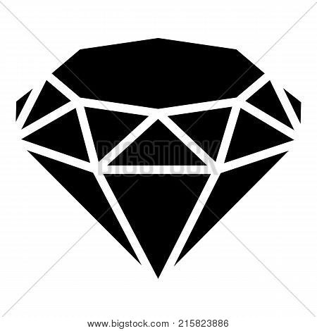 Diamond icon. Simple illustration of diamond vector icon for web