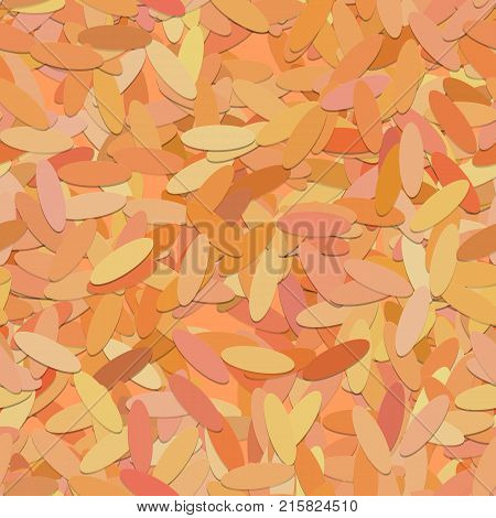 Abstract seamless geometric ellipse background pattern - vector illustration from rounded shapes in orange tones with shadow effect